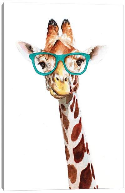 Hipster Giraffe Canvas Art Print