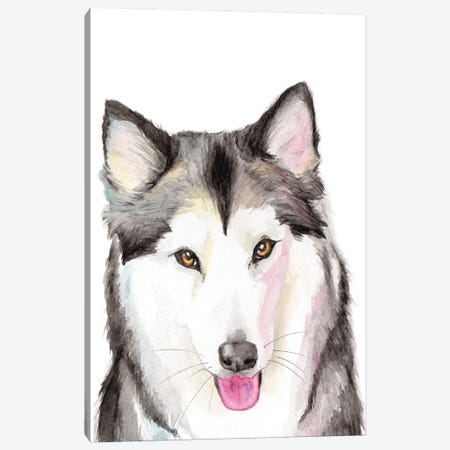 Husky Canvas Print #AGY70} by Allison Gray Canvas Wall Art