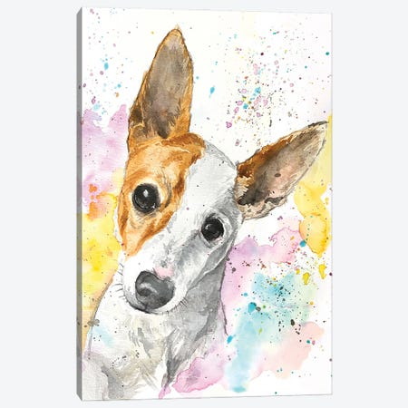 Jack Russell Terrier Canvas Print #AGY71} by Allison Gray Canvas Wall Art