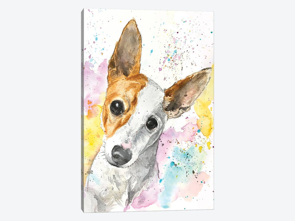 Jack Russell Terrier by Allison Gray 1-piece Canvas Art Print