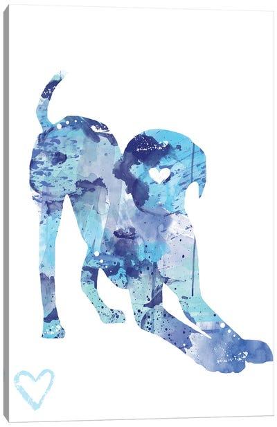Labrador Retriever Silhouette I Canvas Art Print