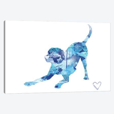 Labrador Retriever Silhouette II Canvas Print #AGY76} by Allison Gray Canvas Art Print