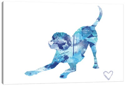 Labrador Retriever Silhouette II Canvas Art Print