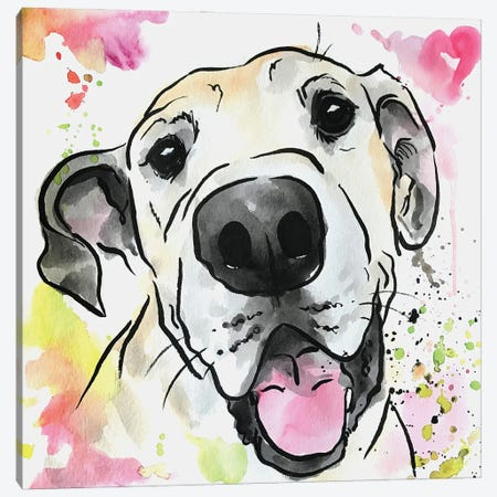 Loved Forever Great Dane Canvas Print #AGY78} by Allison Gray Canvas Art