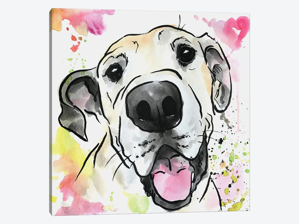 Loved Forever Great Dane by Allison Gray 1-piece Canvas Wall Art