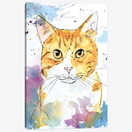 Orange Eyed Tabby Canvas Print #AGY82} by Allison Gray Art Print