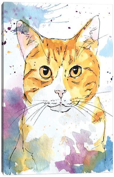 Orange Eyed Tabby Canvas Art Print
