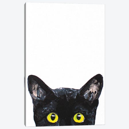Peeking Cat Canvas Print #AGY89} by Allison Gray Art Print