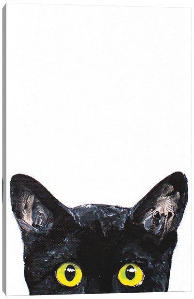 Peeking Cat Canvas Art Print