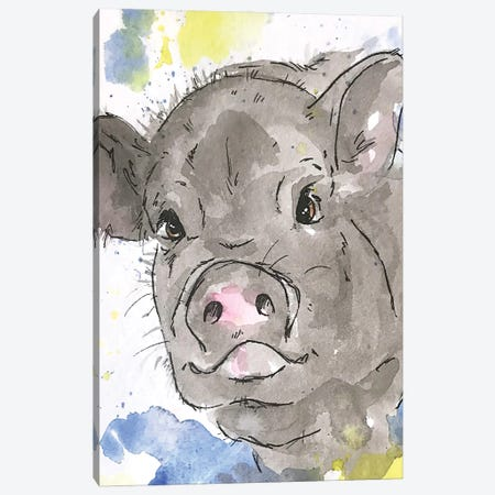 Pet Pig Canvas Print #AGY90} by Allison Gray Canvas Art