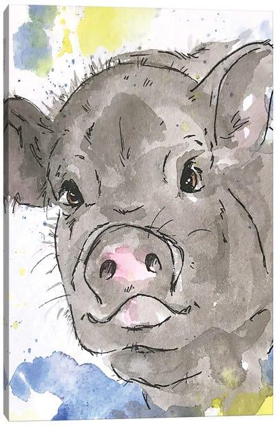 Pet Pig Canvas Art Print