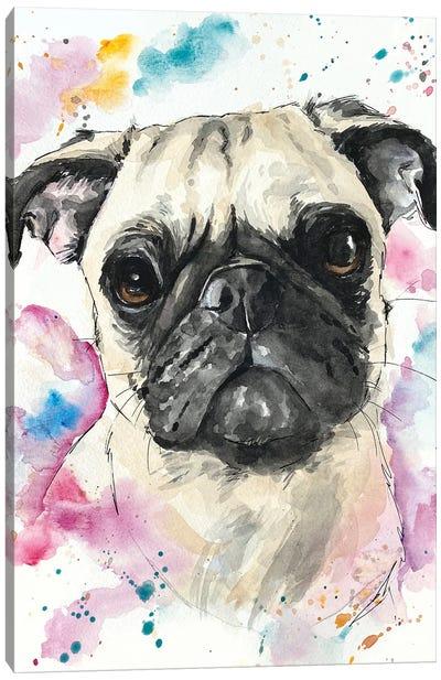 Pinky Pug Canvas Art Print
