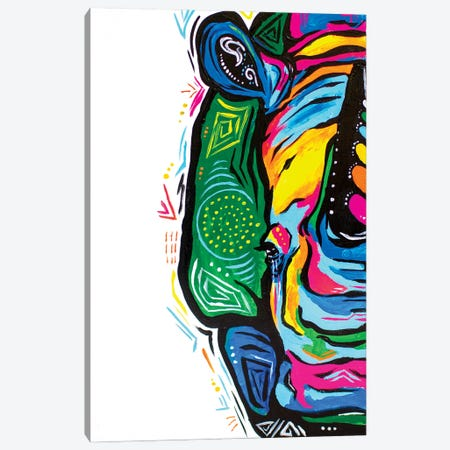 Psychadelic Rhino Canvas Print #AGY94} by Allison Gray Canvas Print