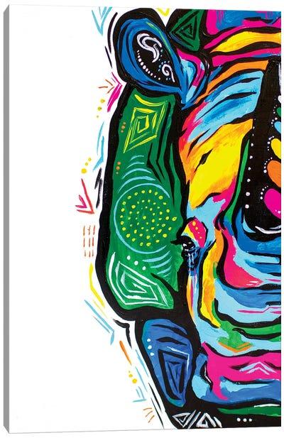 Psychadelic Rhino Canvas Art Print