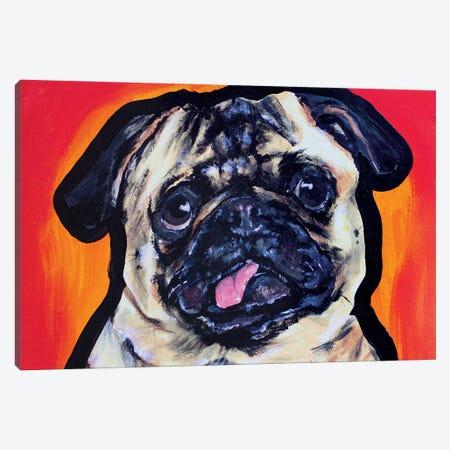 Pug Pop Art Canvas Print #AGY96} by Allison Gray Canvas Print