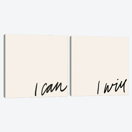 Can Will Diptych Canvas Print Set #AHA2HSET001} by Anna Hambly Canvas Artwork