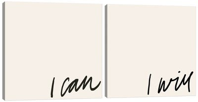 Can Will Diptych Canvas Art Print