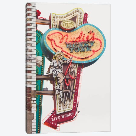 Nashville Neon Iii Canvas Print #AHD104} by Ann Hudec Canvas Artwork