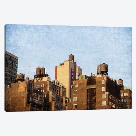 NYC Water Towers Canvas Print #AHD109} by Ann Hudec Canvas Print