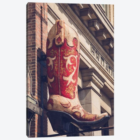 Red Boot Nashville Canvas Print #AHD126} by Ann Hudec Canvas Art