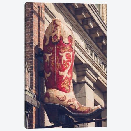 Red Boot Nashville Canvas Print #AHD126} by Ann Hudec Canvas Art