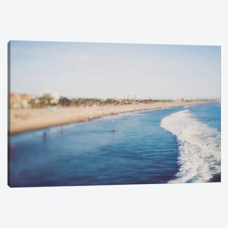 Santa Monica Beach Day Canvas Print #AHD139} by Ann Hudec Canvas Wall Art