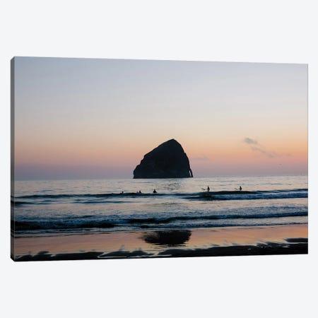 Sunset Surfers Canvas Print #AHD159} by Ann Hudec Canvas Artwork