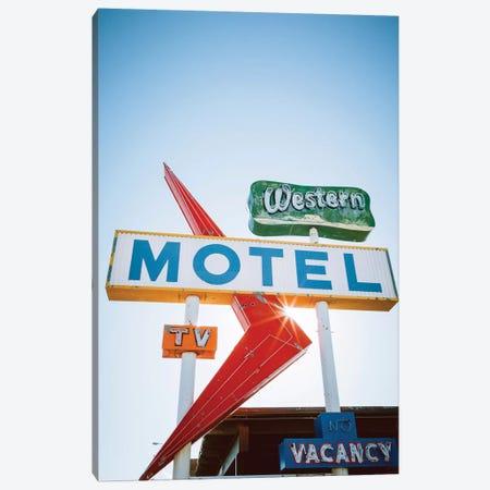 Western Motel Canvas Print #AHD190} by Ann Hudec Canvas Art