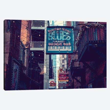 Printer's Alley Nashville Tennessee Canvas Print #AHD207} by Ann Hudec Art Print
