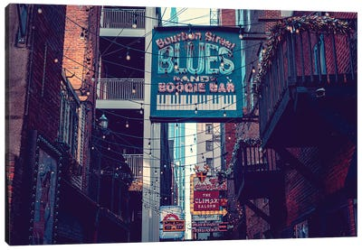 Printer's Alley Nashville Tennessee Canvas Art Print