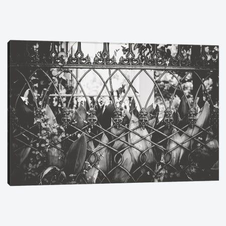 Skull Fence New Orleans Canvas Print #AHD216} by Ann Hudec Canvas Wall Art