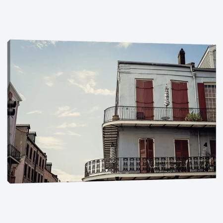 French Quarter Blues Canvas Print #AHD222} by Ann Hudec Canvas Art