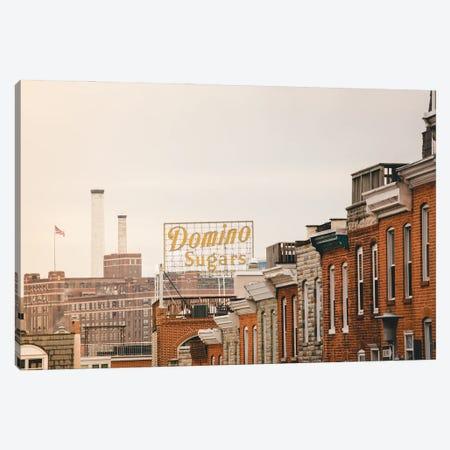 Federal Hill Baltimore Skyline Canvas Print #AHD224} by Ann Hudec Art Print