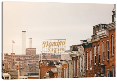Federal Hill Baltimore Skyline Canvas Art Print