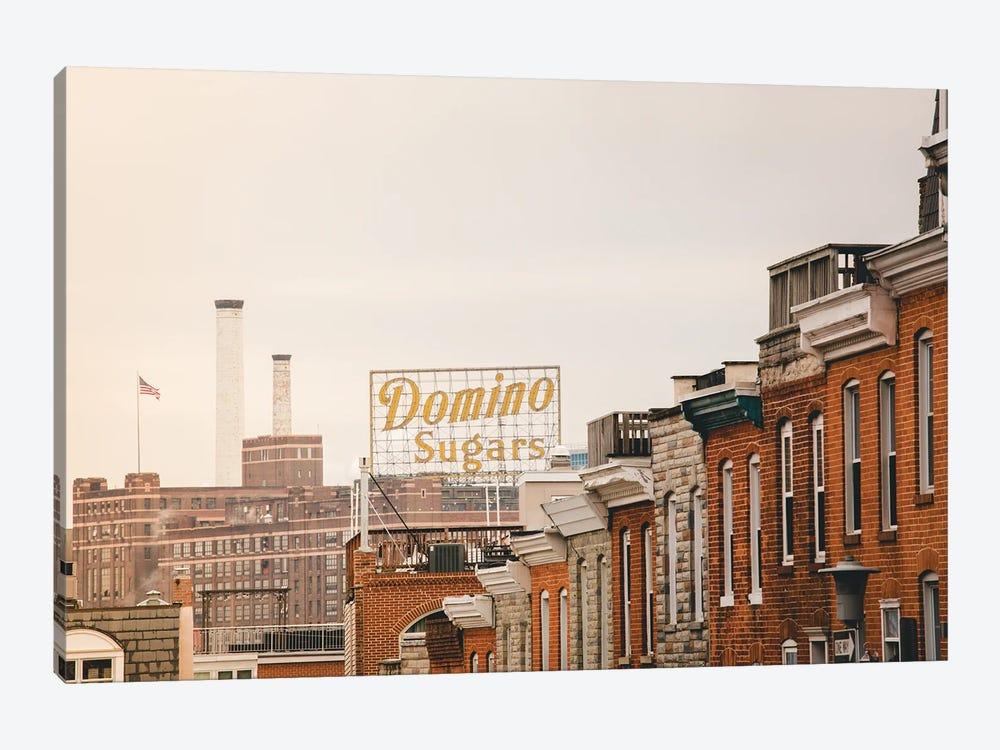 Federal Hill Baltimore Skyline by Ann Hudec 1-piece Canvas Print