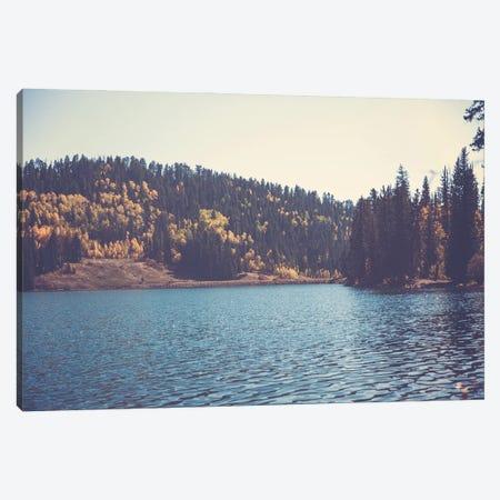 Colorado Mountain Lake In Autumn Canvas Print #AHD227} by Ann Hudec Canvas Art Print