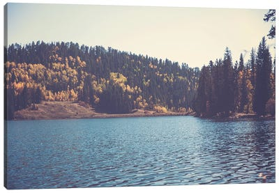 Colorado Mountain Lake In Autumn Canvas Art Print