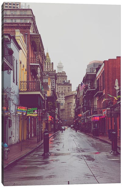 Bourbon Street Rain New Orleans Louisiana Canvas Art Print
