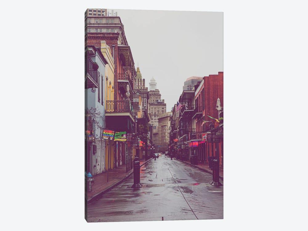 Bourbon Street Rain New Orleans Louisiana by Ann Hudec 1-piece Canvas Print
