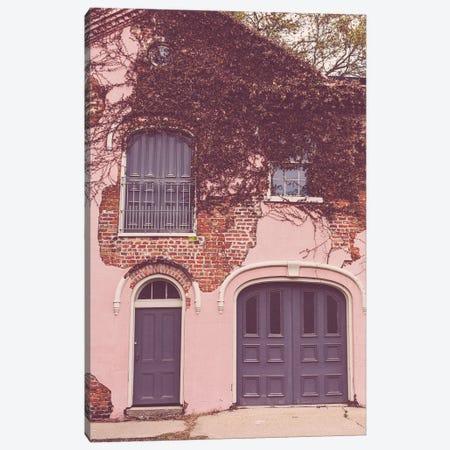 New Orleans Garden District Pink Carriage House Canvas Print #AHD267} by Ann Hudec Canvas Art Print