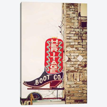 Austin Neon Canvas Print #AHD5} by Ann Hudec Art Print