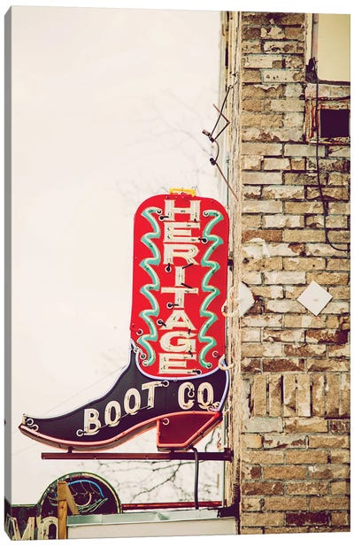 Austin Neon Canvas Art Print