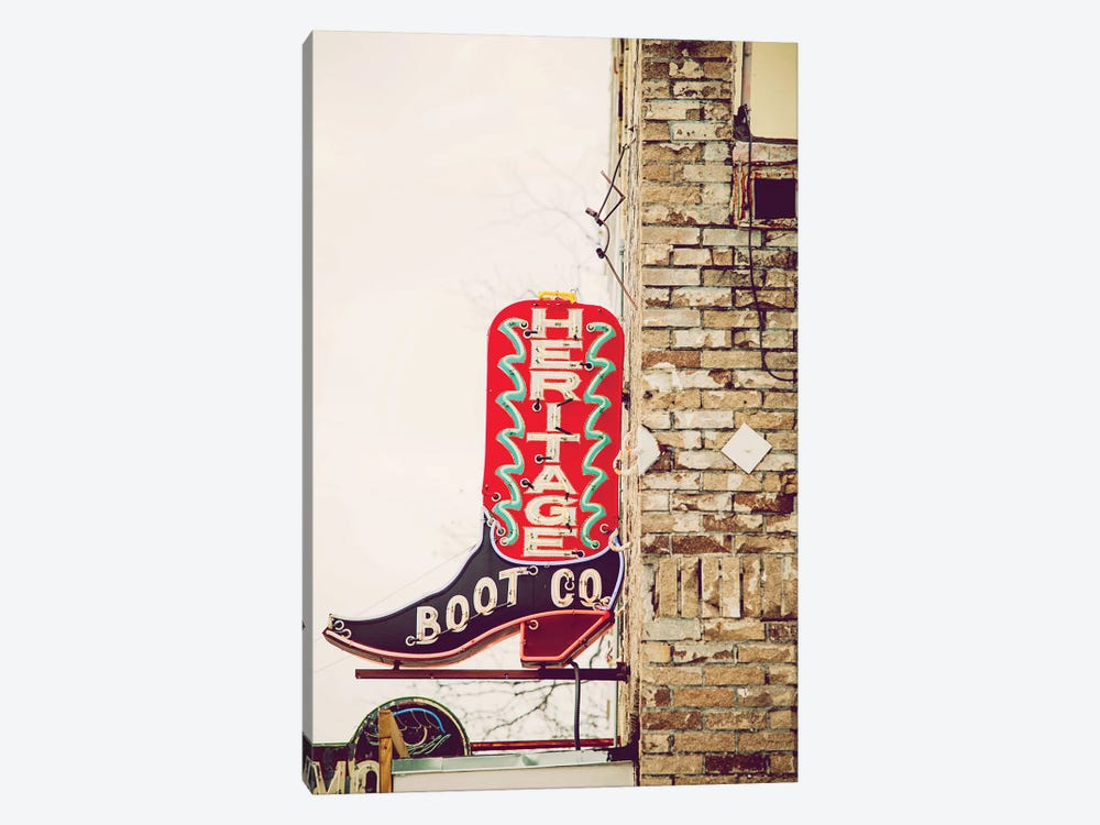 Austin Neon by Ann Hudec 1-piece Canvas Art Print