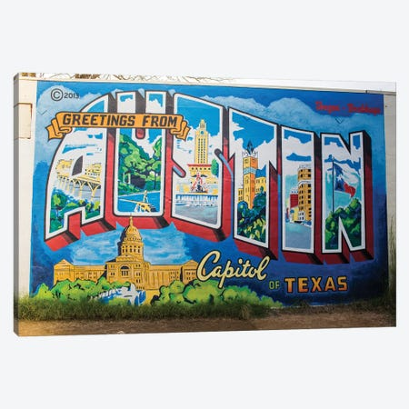 Gretings From Austin Canvas Print #AHD61} by Ann Hudec Canvas Artwork