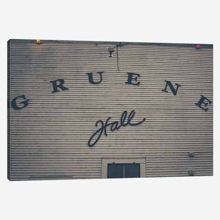 Gruene Hall Canvas Print #AHD63} by Ann Hudec Canvas Art