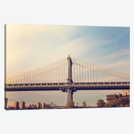 Manhattan Bridge Canvas Print #AHD91} by Ann Hudec Canvas Print