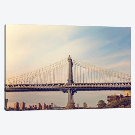 Manhattan Bridge Canvas Print #AHD91} by Ann Hudec Canvas Print