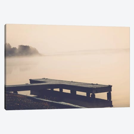 Morning At The Lake Canvas Print #AHD97} by Ann Hudec Canvas Wall Art