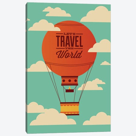 Travel the World Canvas Print #AHH100} by Andrew Heath Canvas Art Print