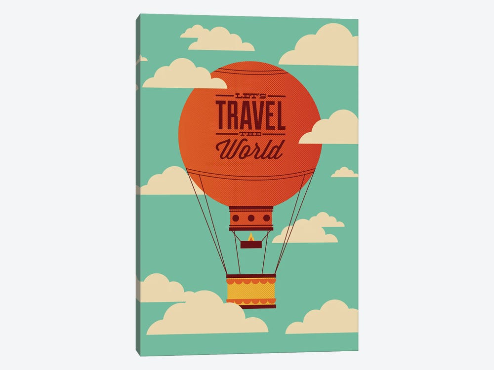 Travel the World by Andrew Heath 1-piece Canvas Artwork
